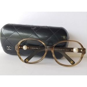 Auth Chanel Collection Perle Eyeglasses frames